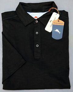 NWT $88 Tommy Bahama Short Sleeve Polo Shirt Mens Size S Black Pima Cotton NEW