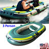 PVC Inflatable Three Person Boat Kayak Canoe Fishing Drifting Diving Tool US