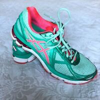 Asics Womens Size 9 GT-2000 Running Shoes T550N Green Pink