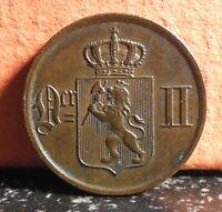Very Nice Better Grade 1889 Norway 1 Ore KM# 352