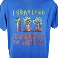 I Survived 122 Degrees T Shirt Vintage 90s 1990 In Arizona Made In USA Size XL