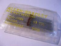Carbon Composition Resistors 2000 OHM 2K 1/8W Allen-Bradley RCQ5GF202J - Qty 50
