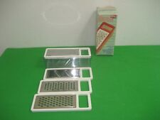 Vintage 4 Piece Ki Mee Kitchenware Stainless Steel Grater with Plastic Container