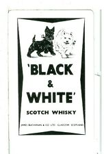 "Single Playing Card, ""Black & White"" Scotch Whiskey, Two Scotties"