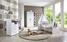 Babyzimmer Kinderzimmer komplett Set Babymöbel Komplettset umbaubar KIM 2 weiß