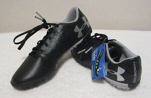 NWT Under Armour Youth Boys UA Magnetico Select TF JR Soccer Turf Shoes 5 Black