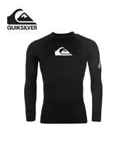 Genuine Quiksilver  Rash Vest Mens Long Sleeve Logo Tank Top Surfing Beachwear