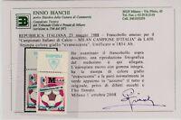 FRANCOBOLLI - 1988 REPUBBLICA MILAN AZZURRO L.650 GIALLO EVANESCENTE MNH Z/9489