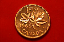 1965 Type 2 Sm Beads Bl 5 RD (Prooflike) Canada Cent