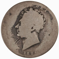 Raw 1825 Great Britain 1/2C Half Crown Silver Circulated GB UK Coin