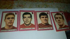 4 FIGURINE LAMPO TORINO CALCIO 1962/63
