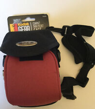 Kodak Gear Compact Camera Bag Case Carry Bag with Strap - Black And Rust NEW