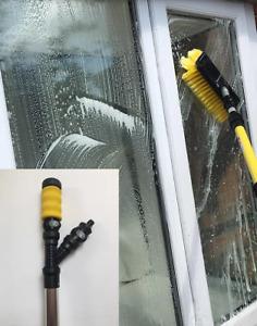 3.5 Meter Water Fed Window Cleaning Kit, Soap Dispenser, Squeegee & Mop Set
