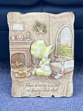 """Vintage 1977- """"Holly Hobbie� 3-D Molded Wall Plaque-Rare!"""