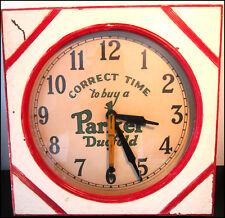 Vintage Parker Duofold Yellow Mandarin Wall Clock , Year 1920   (REF.# X001)