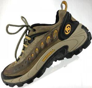 Merrell Pulse II Low All Terrain Trail Hiking Sneakers Womens 7.5 Sage/Yellow