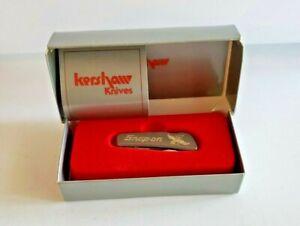 Kershaw Snap On Pocket Knife Silver NIB Eagle One Blade