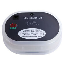 9~12 Eggs Egg Incubator Digital Automatic Hatcher Temperature Control w/ Candler