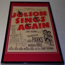 1949 Jolson Sings Again Framed 11x17 ORIGINAL Vintage Advertising Poster