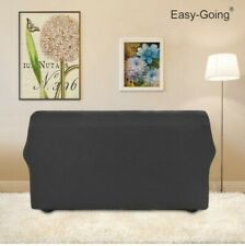 ChicCovers Seat Stretch   Cover Elastic Slipcover Protector Gray 4 Seater Sofa