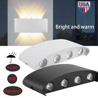 Outdoor 8LED Wall Porch Patio Light Exterior Lighting Lamp Fixture Waterproof 8W