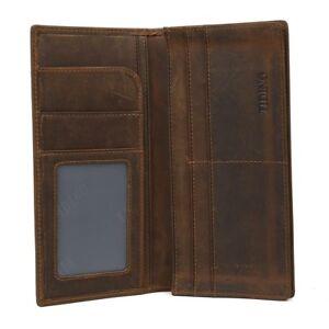 RFID Men Leather Bifold Long Wallet ID Card Cash Holder Checkbook Ticket Purse