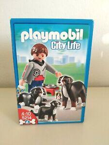 PLAYMOBIL 5214 FIGURE with DOGS 2011 GEOBRA  NEW!!!