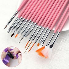 15 Pcs Nail Art Acrylic UV Gel Design Brush Set Painting Pen Tips Tools kit UK