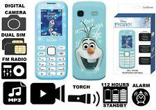 Disney FROZEN OLAF Dual Sim Mobile +Digital Camera+Torch+Audio Record+Radio #P1