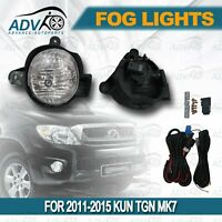 FIT FOR TOYOTA HILUX VIGO 2011-2015 KUN TGN MK7 FOG LAMPS LIGHTS SPOT LIGHT LAMP