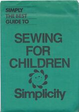 Simplicity 0063 Sewing for Children Guide Package NIP Sealed