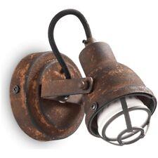 Lampada Da Parete Bob Mini Ap1 Ideal Lux Effetto Ruggine Vintage Colore Corten