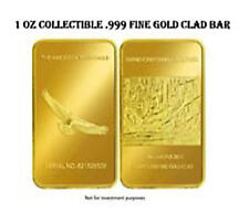 1 OZ .999 Fine Gold Clad Bar of Grand Canyon National Park