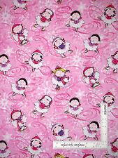 Ice Skate Fabric - Ice Skaters Skating Winter Silver Pink #5620G Benartex - Yard