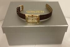 Gruen Swiss Made Gold Tone Iconic Curvex GSC13-1 Swiss Ronda Quartz Movement