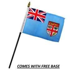 FIJI FLAG DESK SET WITH BASE 4x6 INCHES - TABLE STICK FLAG