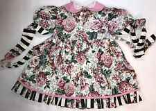 Káwalla Vintage Floral Ruffle Dress Toddler Girl's Size 4t Short Sleeves Ties