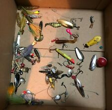 Lot of Fishing Tackle W/ Old Lures - Hooks - Worms - Spoons - Misc. Other Stuff