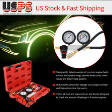 4Pcs Cylinder Leakdown Tester Petrol Engine Compression Leakage Leak Detector