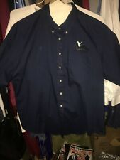 Rio Grande Valley WhiteWings Navy Blue Large L Button Down Short Sleeve Shirt