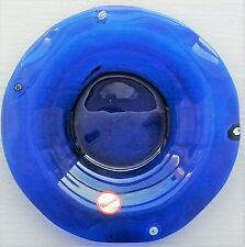 Murano Glass Fratelli Toso Cobalt Blue Millefiori Dish with Sticker 14.5 cm diam