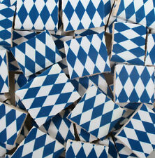 Ceramic Mosaic Tiles - Blue And White Harlequin Checkered Mosaic Tile Pieces