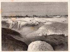 QUEBEC RIVIERE LA CHAUDIERE EN HIVER RIVER  WINTER CANADA  IMAGE 1875 PRINT