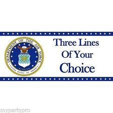 AIR FORCE CUSTOM BANNER PARTY supplies FREE SHIPPING NEW