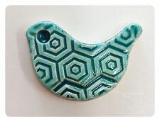 Aqua Ceramic Bird Tile