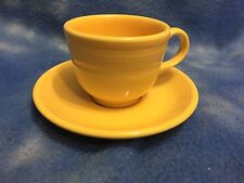FIESTA YELLOW CUP & SAUCER HOMER LAUGHLIN CHINA CO LEAD FREE U.S.A EXCELLENT
