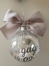 Engagement Personalised Bauble keepsake present gift Choose Colour and Filling