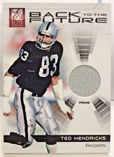 Ted Hendricks 2012 Elite Back To The Future Prime - Gu Patch #'d 71/99 - Raiders