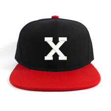 Malcolm X Snapback Snap Back Cap Hat Baseball Cap Black/Red bill
