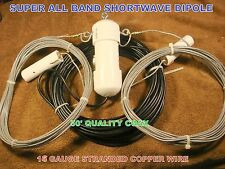 SUPER ALL BAND SHORTWAVE DIPOLE ANTENNA, Heavy Duty!